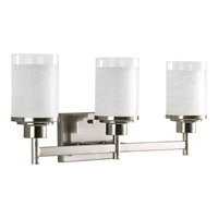 Progress Lighting Alexa 3 Light Bath Vanity in Brushed Nickel P2978-09