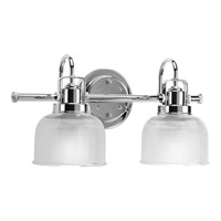 Progress P2991-15 Archie 2 Light 17 inch Chrome Bath Vanity Wall Light