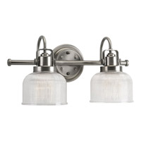 Progress Lighting Archie 2 Light Bath Vanity in Antique Nickel P2991-81