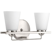 Flight 2 Light 16 inch Brushed Nickel Bath Vanity Wall Light
