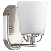 West Village 1 Light 5 inch Brushed Nickel Bath Vanity Wall Light