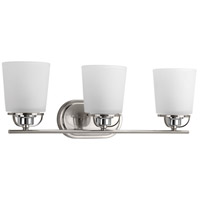 West Village 3 Light 23 inch Brushed Nickel Bath Vanity Wall Light, Design Series