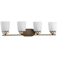 West Village 4 Light 32 inch Antique Bronze Bath Vanity Wall Light, Design Series