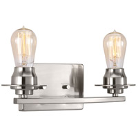 Debut 2 Light 14 inch Brushed Nickel Bath Vanity Wall Light