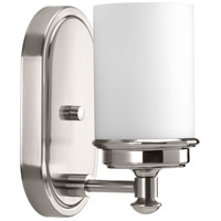 Glide 1 Light 5 inch Brushed Nickel Bath Vanity Wall Light
