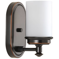 Glide 1 Light 5 inch Rubbed Bronze Bath Vanity Wall Light