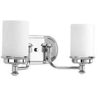 Glide 2 Light 16 inch Polished Chrome Bath Vanity Wall Light