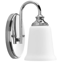 Progress P300024-015 Wander 1 Light 5 inch Polished Chrome Bath Vanity Wall Light, Design Series photo thumbnail
