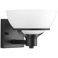 Progress P300032-031 Domain 1 Light 9 inch Black Bath Vanity Wall Light