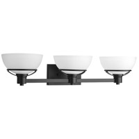 Progress P300034-031 Domain 3 Light 32 inch Black Bath Vanity Wall Light