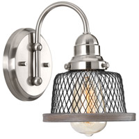 Tilley 1 Light 6 inch Brushed Nickel Bathroom Vanity Wall Light