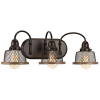 Tilley 3 Light 23 inch Antique Bronze Bathroom Vanity Wall Light