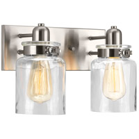 Calhoun 2 Light 13 inch Brushed Nickel Bathroom Vanity Wall Light