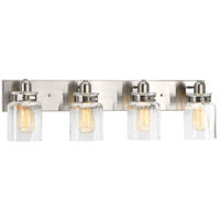 Calhoun 4 Light 30 inch Brushed Nickel Bathroom Vanity Wall Light