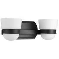 Progress P300077-031 Index 2 Light 15 inch Black Bath Vanity Wall Light
