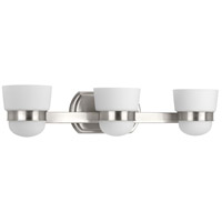 Progress P300078-009 Index 3 Light 23 inch Brushed Nickel Bath Vanity Wall Light
