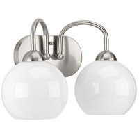 Carisa 2 Light 15 inch Brushed Nickel Bath Vanity Wall Light