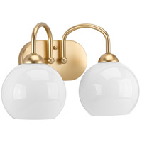 Carisa 2 Light 15 inch Vintage Gold Bath Vanity Wall Light