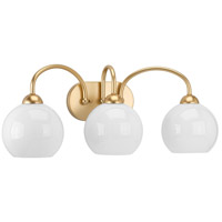 Carisa 3 Light 25 inch Vintage Gold Bath Vanity Wall Light