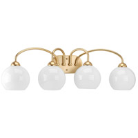 Carisa 4 Light 33 inch Vintage Gold Bath Vanity Wall Light