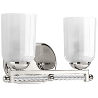 Progress P300101-104 Carlyn 2 Light 13 inch Polished Nickel Bath Vanity Wall Light Design Series