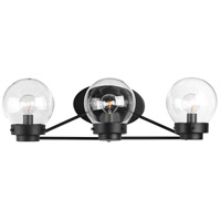 Spatial 3 Light 22 inch Black Bath Vanity Wall Light, Design Series