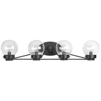 Spatial 4 Light 31 inch Black Bath Vanity Wall Light, Design Series