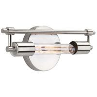 Progress P300148-009-WB Circuit 1 Light 14 inch Brushed Nickel Bath Vanity Wall Light