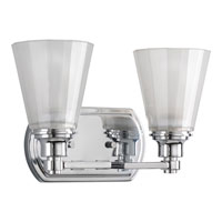 Progress Lighting Victory 2 Light Bath Vanity in Polished Chrome P3001-15