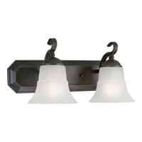Melbourne 2 Light 18 inch Espresso Bath Vanity Wall Light