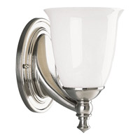 Victorian 1 Light 6 inch Brushed Nickel Bath Vanity Wall Light