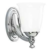 Victorian 1 Light 6 inch Polished Chrome Bath Vanity Wall Light