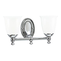 Progress P3028-15 Victorian 2 Light 17 inch Polished Chrome Bath Vanity Wall Light