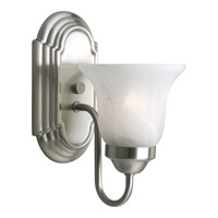 Builder Bath 1 Light 5 inch Brushed Nickel Bath Vanity Wall Light in Bulbs Included, Fluorescent