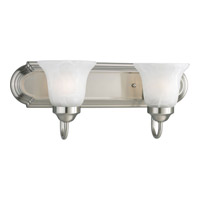 Progress P3052-09 Builder Bath 2 Light 18 inch Brushed Nickel Bath Vanity Wall Light in Bulbs Not Included