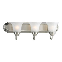 Progress P3053-09 Builder Bath 3 Light 24 inch Brushed Nickel Bath Vanity Wall Light in Bulbs Not Included