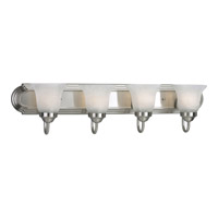 Progress Lighting Builder Bath 4 Light Bath Vanity in Brushed Nickel P3054-09EBWB