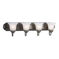 Builder Bath 4 Light 30 inch Antique Bronze Bath Vanity Wall Light in Bulbs Not Included, Standard