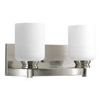 Progress Lighting Orbitz 2 Light Bath Vanity in Brushed Nickel P3057-09
