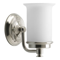 Progress Lighting Currents 1 Light Bath Vanity in Brushed Nickel P3059-09