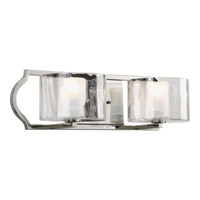 Caress 2 Light 19 inch Polished Nickel Bath Vanity Wall Light