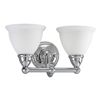 Progress Lighting Delta Botanical 2 Light Bath Vanity in Polished Chrome P3107-15