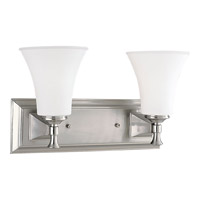 Progress Lighting Fairfield 2 Light Bath Vanity in Brushed Nickel P3132-09