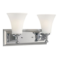 Progress Lighting Fairfield 2 Light Bath Vanity in Polished Chrome P3132-15