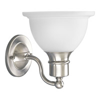 Madison 1 Light 8 inch Brushed Nickel Bath Vanity Wall Light