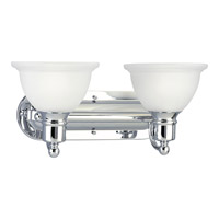 Progress Lighting Madison 2 Light Bath Vanity in Polished Chrome P3162-15