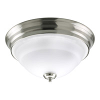 Torino 2 Light 15 inch Brushed Nickel Close-to-Ceiling Ceiling Light in Etched