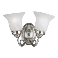 Progress Lighting Bedford 2 Light Bath Vanity in Brushed Nickel P3187-09EBWB
