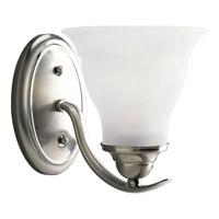Progress P3190-09EBWB Trinity 1 Light 7 inch Brushed Nickel Bath Vanity Wall Light in Bulbs Included Fluorescent