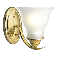 Progress Lighting Trinity 1 Light Bath Vanity in Polished Brass P3190-10